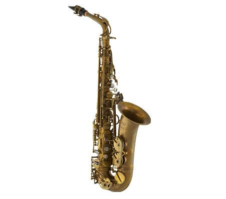"A. EASTMAN ""52ND ST."" ALTO SAX, HIGH F#,  ADJ. PALM KEYS, UNLACQUERED, GIG CASE"