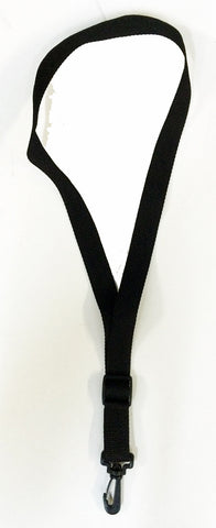 "ECONOMY SAXOPHONE NECK STRAP, 1"" WIDE, SWIVEL HOOK, BLACK"