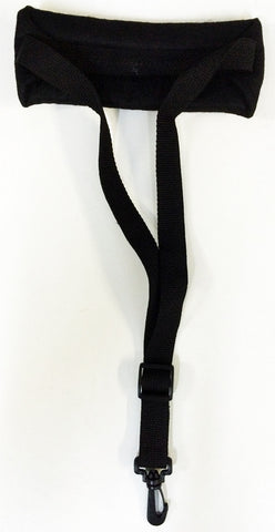 "PADDED SAXOPHONE NECK STRAP, 1"" WIDE, SWIVEL HOOK, BLACK"
