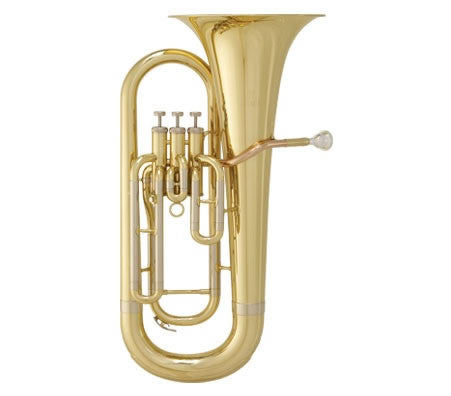 "ANDREAS EASTMAN EUPHONIUM, .571"" BORE, ROSEBRASS LEADPIPE, 3 UPRIGHT VALVES, 11"" BELL, CLEAR LACQUER FINISH, ABS CASE"
