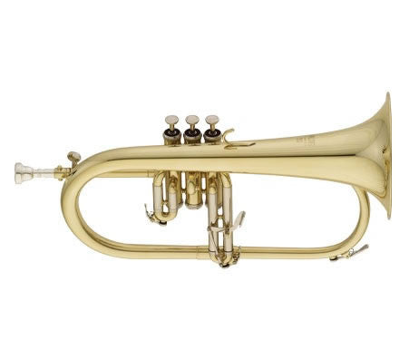 "ANDREAS EASTMAN FLUGELHORN, .413"" BORE, 3RD TRIGGER, CLEAR LACQUER FINISH, SOFT CASE"