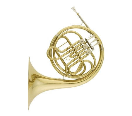 "ANDREAS EASTMAN FRENCH HORN, SINGLE ""F"", .468"" BORE, CLEAR LACQUER FINISH, ABS CASE"
