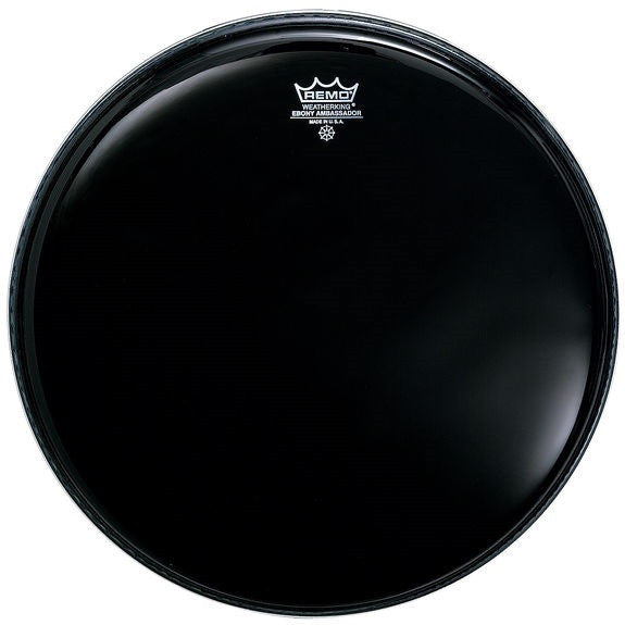 "REMO AMBASSADOR BATTER HEAD, 18"" EBONY"