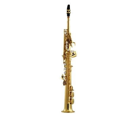 ANDREAS EASTMAN SOPRANO SAX, 1PC. BODY WITH STRAIGHT NECK, HIGH F#, GOLD LACQUER FINISH, GIG STYLE CASE