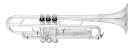 "ANDREAS EASTMAN Bb TRUMPET, .459"" BORE, 1-PIECE ENGRAVED BELL, SILVER PLATED FINISH, SHIRES 3C MOUTHPIECE, SOFT CASE"