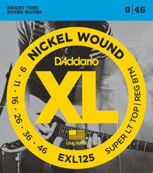 XL NICKEL WOUND, ELECTRIC GUITAR STRING SET, SUPER LIGHT TOP/REG BOTTOM