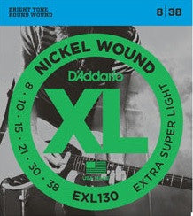 XL NICKEL WOUND, ELECTRIC GUITAR STRING SET, EXTRA SUPER LIGHT
