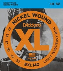 XL NICKEL WOUND, ELECTRIC GUITAR STRING SET, LIGHT TOP/HEAVY BOTTOM