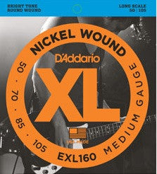 XL NICKEL WOUND, ELECTRIC BASS STRING SET, MEDIUM, LONG SCALE