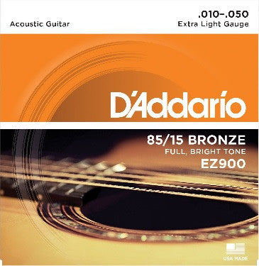 D'ADDARIO 85/15  BRONZE ACOUSTIC GUITAR STRING SET, X-LIGHT