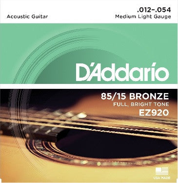 85/15 A. BRONZE ACOUSTIC GUITAR STRING SET, MEDIUM LIGHT