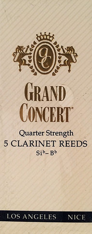GRAND CONCERT CLARINET REEDS, BOX OF 5
