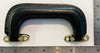 "BLACK VINYL CASE HANDLE, 5-3/4"" LONG, w/ BRASS HARDWARE"