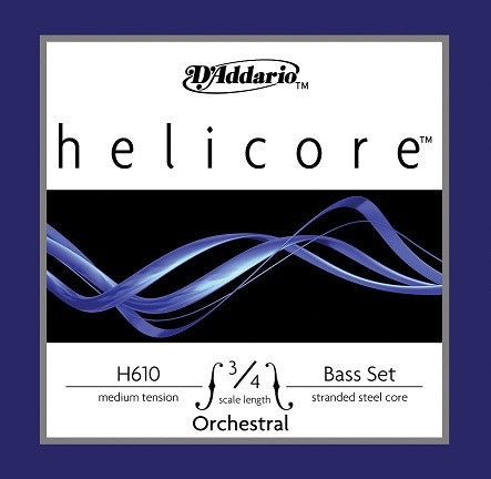 HELICORE STRING BASS STRING SET, 3/4, MED. ORCHESTRAL SERIES