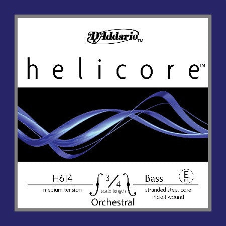 HELICORE STRING SINGLE BASS STRINGS, 3/4 MEDIUM, ORCHESTRAL SERIES