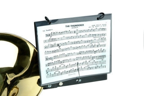 MARCHING TROMBONE LYRE, BELL CLAMP