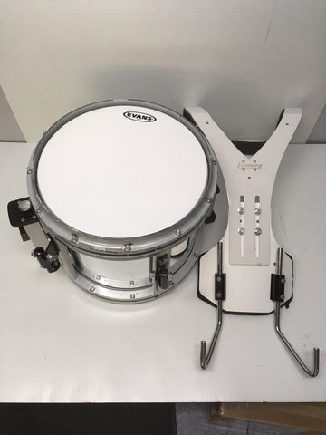 "LUDWIG ""FREE FLOATER"" SNARE DRUM, CHROME, W/ CARRIER & CASE"