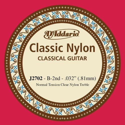 ".81MM ""B"" CLASSIC, CLASSICAL GUITAR SINGLE STRING, NYLON"