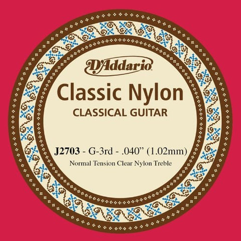 "1.02MM ""G"" CLASSIC, CLASSICAL GUITAR SINGLE STRING, NYLON"
