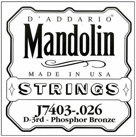 D MANDOLIN DOUBLE STRING, PHOSPHOR BRONZE