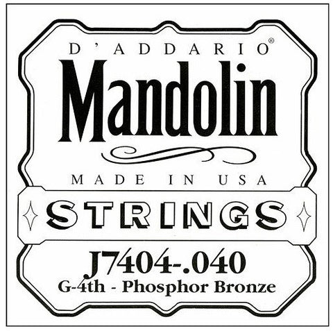 G MANDOLIN DOUBLE STRING, PHOSPHOR BRONZE