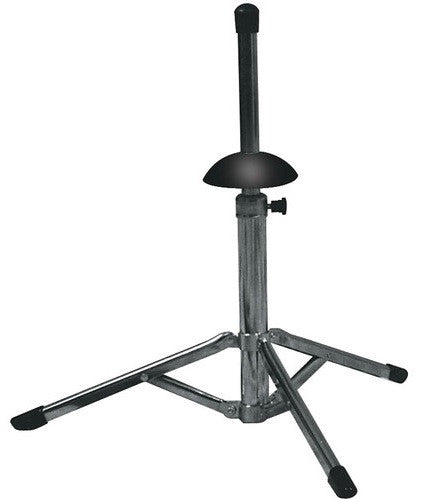 HAMILTON TRUMPET STAND, TRIPOD BASE, COMPACT, CHROME PLATED