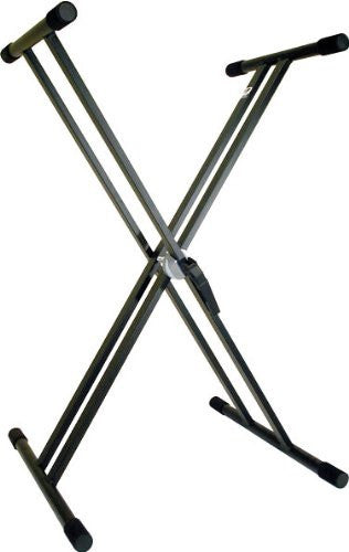 "PROFILE DOUBLE BRACED ""X"" STYLE KEYBOARD STAND, BLACK FINISH"