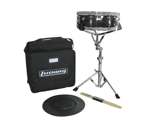 LUDWIG SNARE KIT, W/ LM404 SNARE, L381 PAD, STAND & BAG