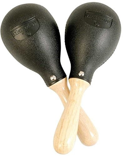 LP MATADOR PLASTIC MARACAS, WOOD HANDLE