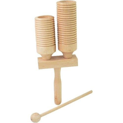 MANO WOODEN AGOGO BLOCK WITH BEATER