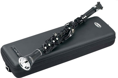 "NUVO ""CLARINEO"", KEY OF ""C"", PLASTIC 1-PC. BODY, BLACK, W/ CASE"