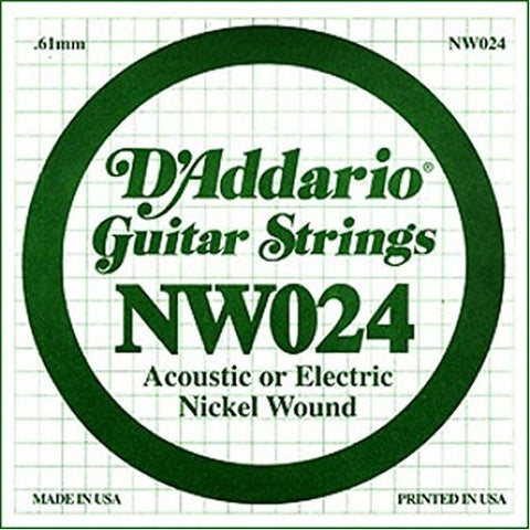 ".61MM ""G, D"" ACOUSTIC OR ELECTRIC GUITAR SINGLE STRING, NICKEL WOUND"