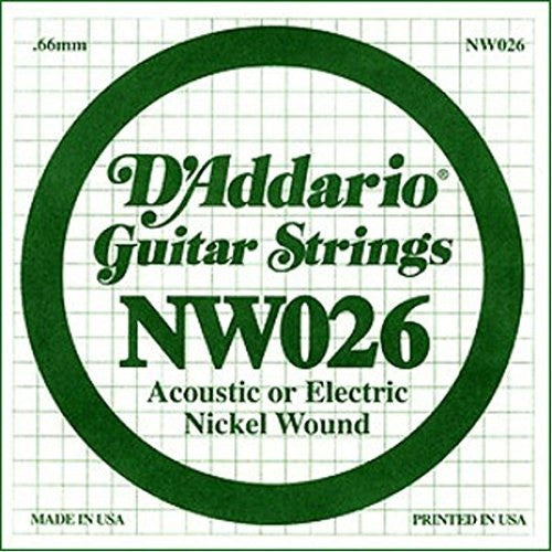 ".66MM ""G, D"" ACOUSTIC OR ELECTRIC GUITAR SINGLE STRING, NICKEL WOUND"
