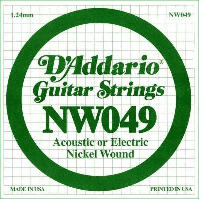 "1.24MM ""E"" ACOUSTIC OR ELECTRIC GUITAR SINGLE STRING, NICKEL WOUND"