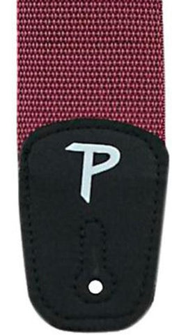 "PERRI'S 2"" NYLON GUITAR SHOULDER STRAP, BURGUNDY"