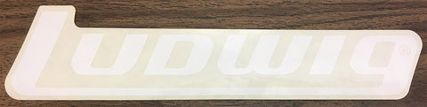 LUDWIG BLOCK LETTER STICKER, WHITE