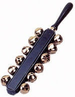 UNIVERSAL SLEIGH BELLS ON HANDLE, 12 BELLS  Discontinued Item
