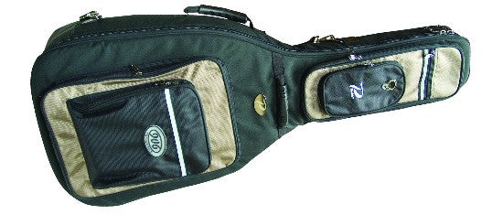 PROFILE ACOUSTIC GUITAR BAG, BLACK WITH KHAKI ACCENT