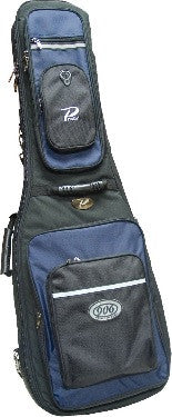 PROFILE ELECTRIC GUITAR BAG, BLACK WITH BLUE ACCENT