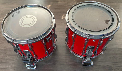 "Pearl ""Traditional"" Marching Snare Drum, Red Finish"