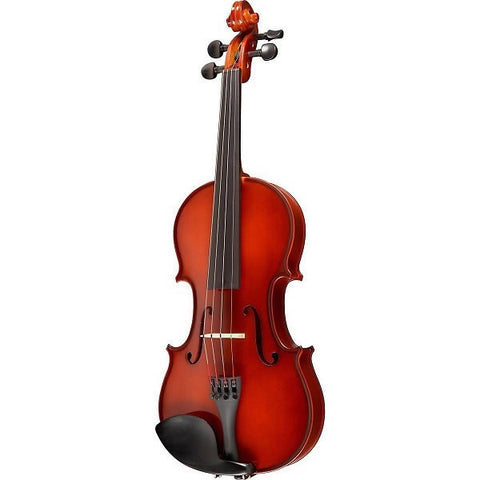 SCHERL & ROTH VIOLIN OUTFIT, 1/2 SIZE, FIBERGLASS BOW, SHAPED CASE