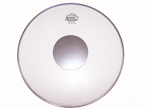 "LUDWIG ""ROCKER"" BATTER HEAD, 15"", CLEAR W/ DOT  Discontinued Item"