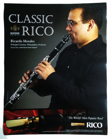 POSTER, RICARDO MORALES ON RICO GRAND CONCERT REEDS