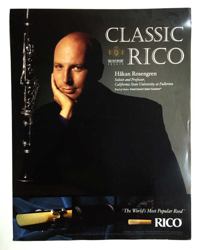 POSTER, HAKAN ROSENGREN ON RICO GRAND CONCERT REEDS