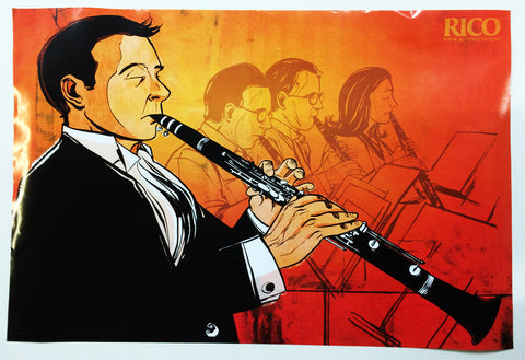 POSTER, RICO ORCHESTRAL CLARINET PLAYER