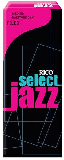 RICO SELECT JAZZ BARITONE SAX REEDS, BOX 5, FILED