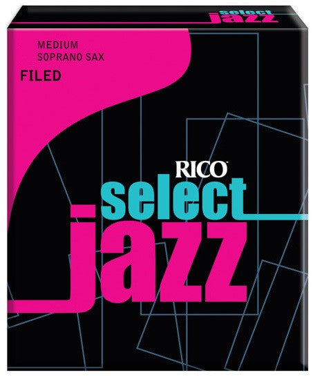 RICO SELECT JAZZ SOPRANO SAX REEDS, BOX 10, FILED