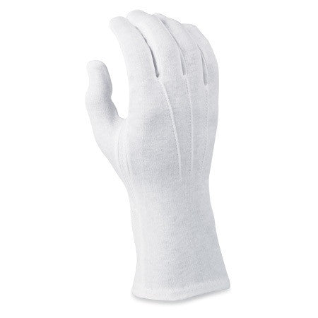 "DELUXE WHITE COTTON ""SURE-GRIP"" MILITARY GLOVES"