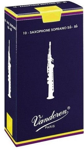 VANDOREN TRADITIONAL SOPRANO SAX REEDS, BOX OF 10