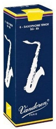 VANDOREN TRADITIONAL TENOR SAX REEDS, BOX OF 5